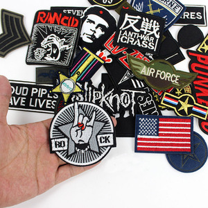 Image 4 - 30pcs /lot Punker clothes Patches Embroidery Badges hot iron on for men boys Jeans jacket Motorcycle Stickers