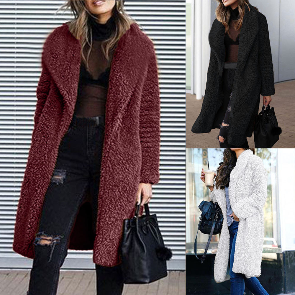 Warme Wollen Winterjas Dames.Jaycosin 2018 Nieuwe Mode Vrouwen Jas Dames Kleding Warm Kunstmatige