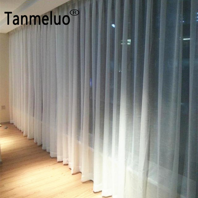 Cross Design White Linen Sheer Curtains For Living Room Bedroom Kitchen Tulle Window Yarn