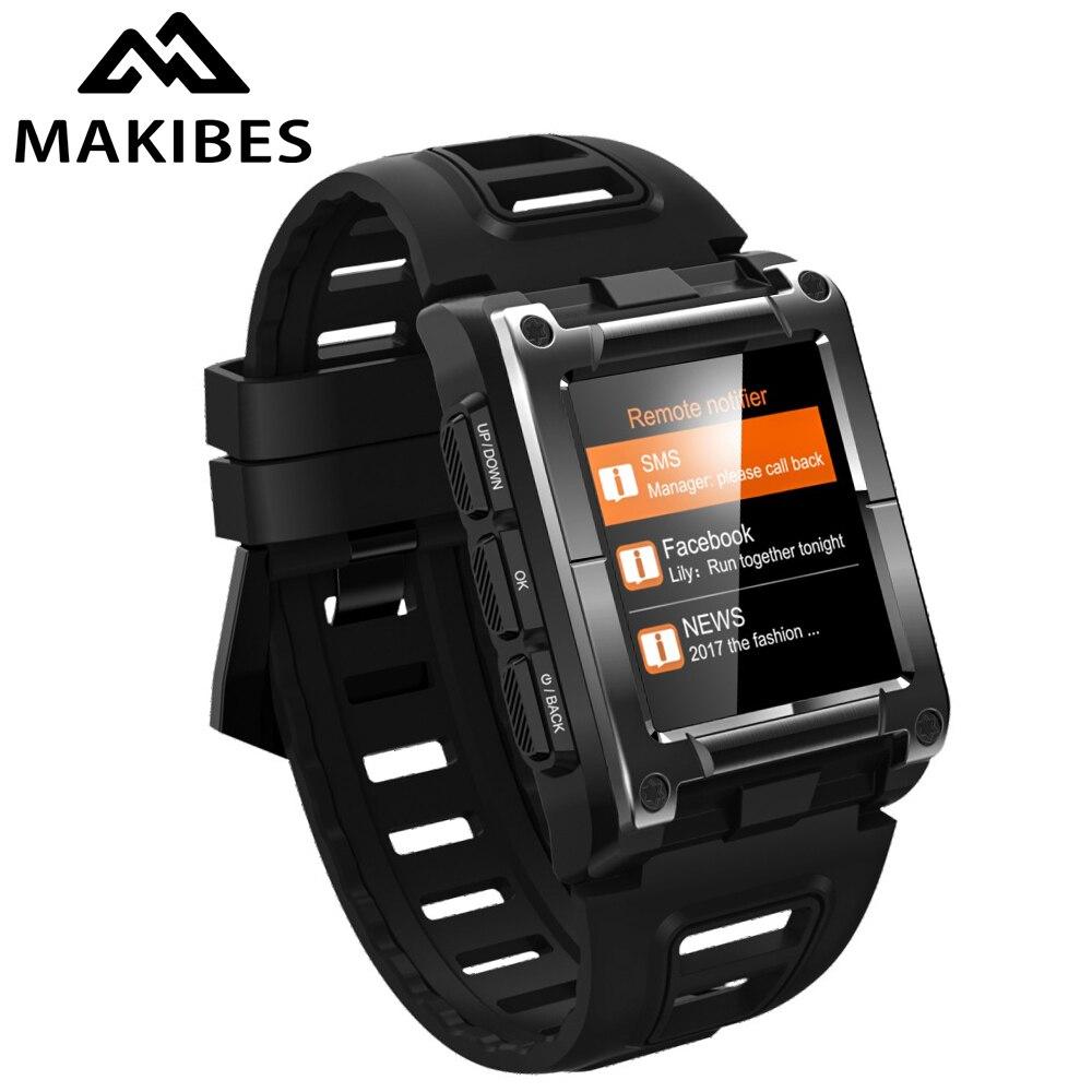Makibes G08 1 an de garantie GPS hommes horloge boussole montre-bracelet Bluetooth montres intelligentes étanche fréquence cardiaque hommes multi-sport