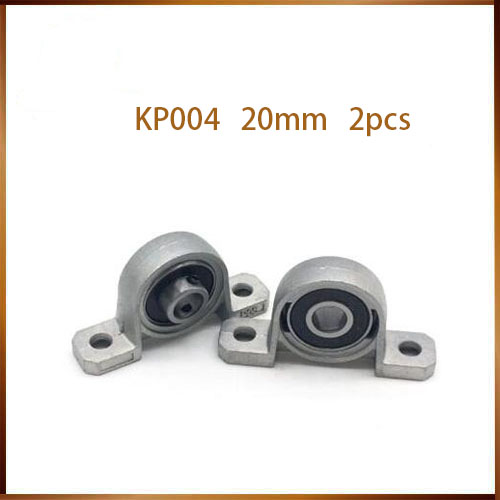 kp004 2pcs Zinc Alloy Diameter 20mm Bore Ball Bearing Pillow Block Mounted Support KP004 2pcs zinc alloy diameter 8mm bore ball bearing pillow block mounted support kp08