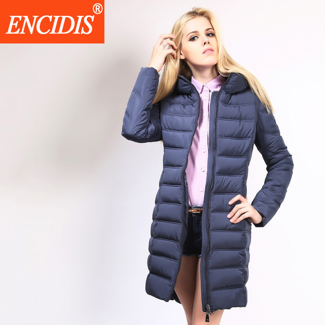 Women's Winter Jacket 2016 New European Style Down Coat Women Slim Coat Female Solid Winter Coats Women Long Thicken Parka Y027