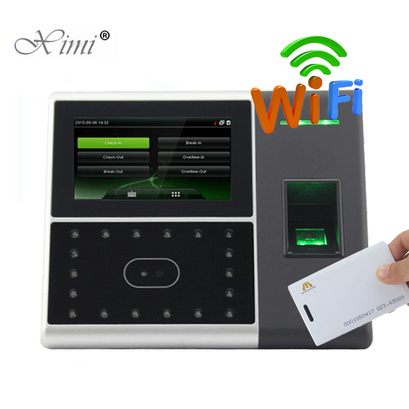 WIFI TCP/IP Biometric Face And Fingerprint Time Attendance With 125KHZ RFID Card Reader ZK IFACE302 Face Door Access Control