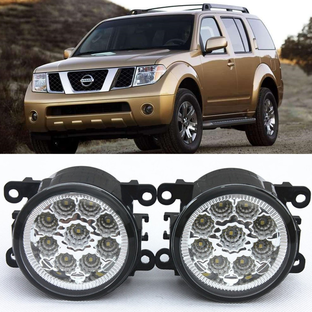 For NISSAN Pathfinder Closed Off-Road Vehicle R51  2005-2015 Car-Styling Led Light-Emitting Diodes DRL Fog lamps 1set for nissan x trail t30 2001 2006 car styling led light emitting diodes drl fog lamps