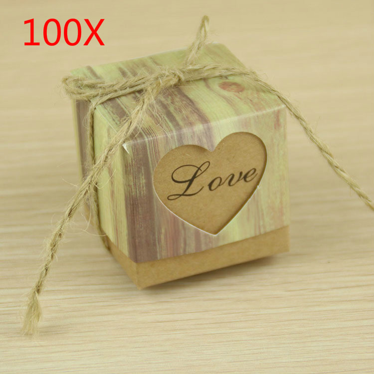 Vintage Wedding Gifts: 100pcs Romantic Heart Candy Box For Wedding Decoration