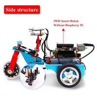 Raspberry Pi TrikeBot Smart Robot Car Programmable Learning With HD Camera Video DIY Robot Kit With Detailed Electronic Tutorial