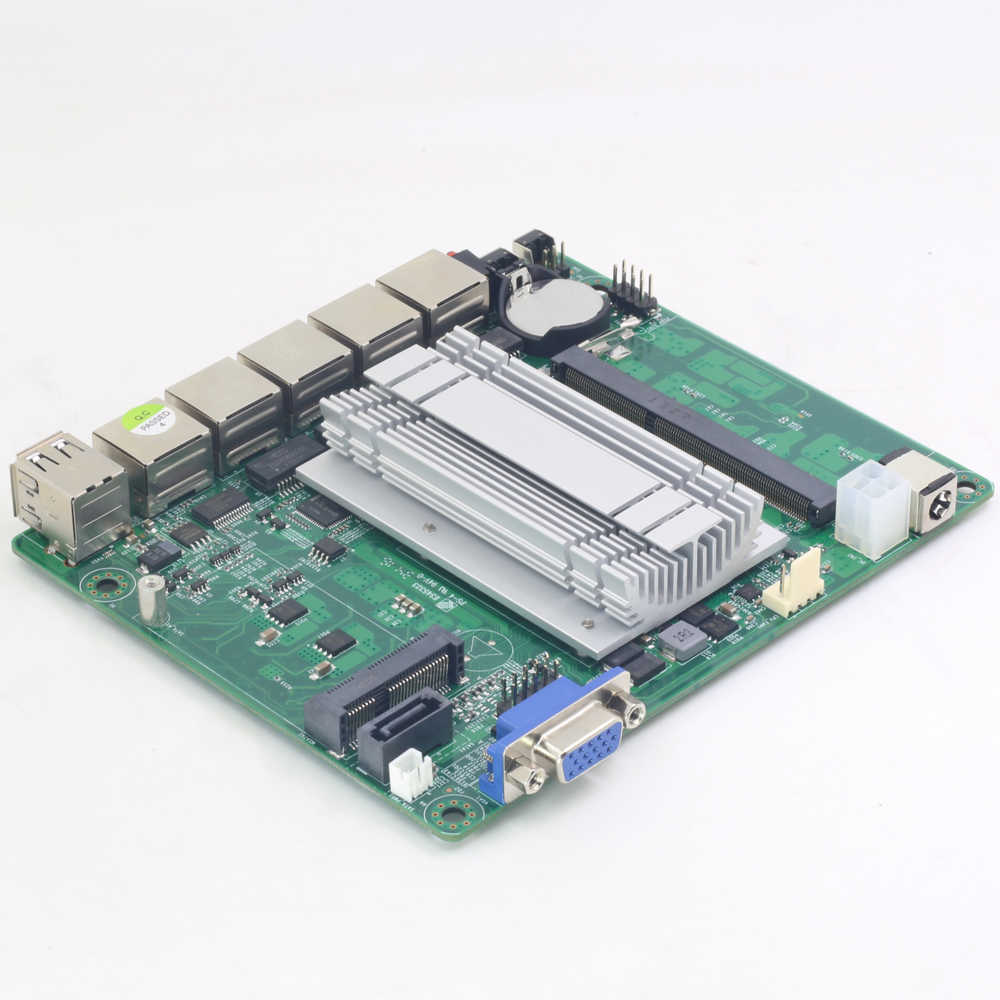 Pfsense Mini ITX Motherboard Fanless with Intel Celeron J1900 Processor 4  Gigabit LAN ports Intel NIC apply for Firewall Router