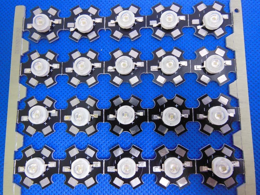 100pcs 1W 3W UV 417 420nm LED ultraviolet LED High Power with 20mm star pcb