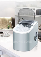 Mini Automatic Electric Ice Maker Portable Bullet Round Block Ice Cube Making Machine Small Bar Coffee Shop 15kgs/24H
