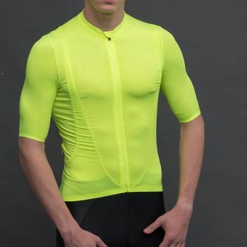 SPEXCEL 2019 update New Version Fluorescent green pro team aero Lightweight Short sleeve cycling jersey Seamless process