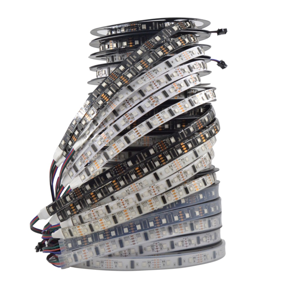 Mokungit 5m Lpd8806 8806 Matrix Rgb Smd Fantastic Magic Led Strip 32 3528 5050 Light Strips Cable Wire Ws2801 48 52 60 Leds Full Color Addressable Pixel Dc5v In From Lights