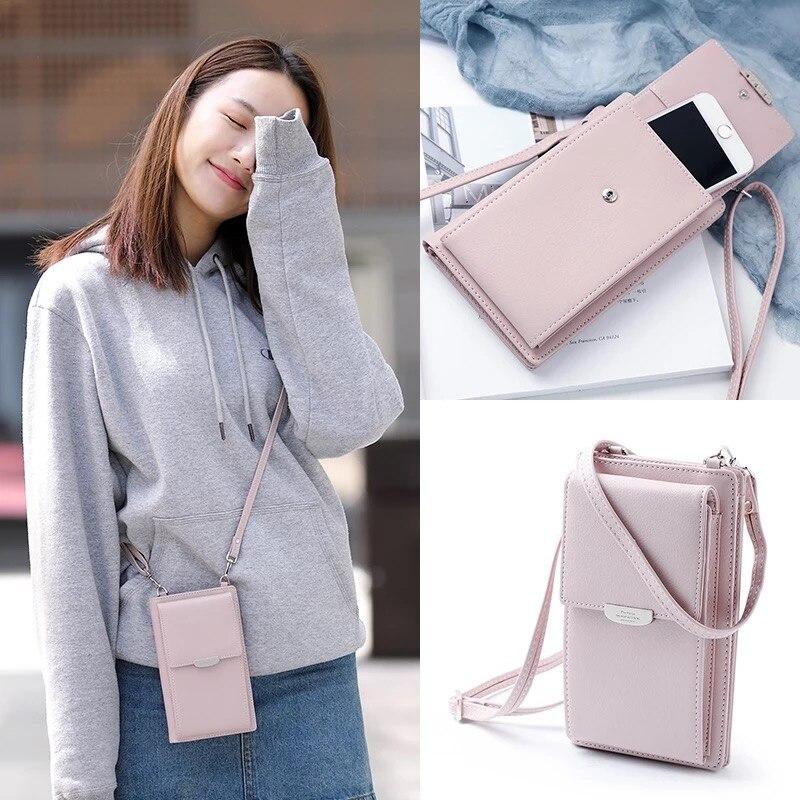 JI HAO Summer Style Women Phone Shoulder Bag  PU Leather Money Wallet  Mini Chain Mobile Phone Bags Crossbody Messenger Bag Сумка
