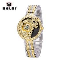 BELBI Women Watches Luxury Crystal Diamond Leopard Ladies Wrist Watches Waterproof Quartz Female Clock Brand Relogio Feminino
