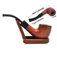 הגעה חדשה 1 צינור צינור עישון 1xtobacco פרימיום מעץ בעבודת יד צינור אדום עץ עם עישון אבזר עיצוב עמיד ואופנתי