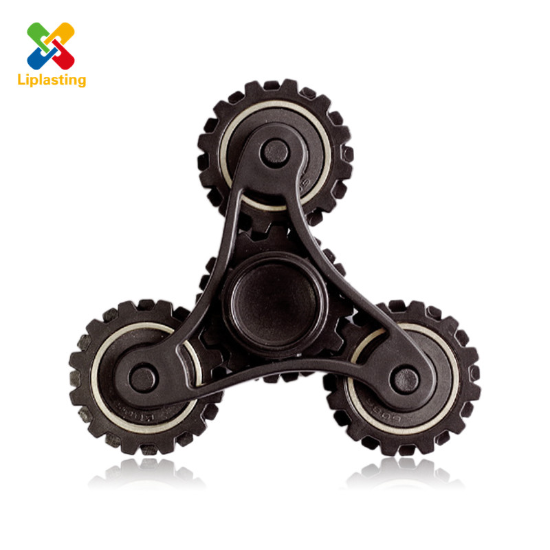 2017 EDC Mechanical Hand Spiner Fidget Tri Spinner Metal Gear Finger For Autism ADHD Stress Toy