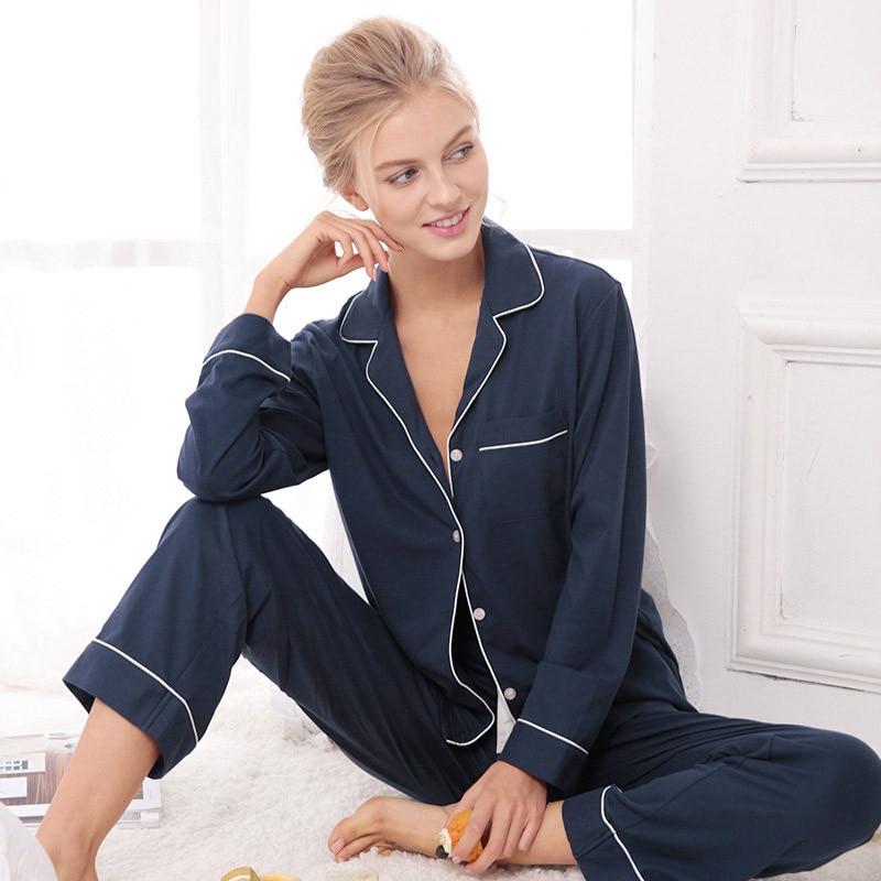 Leisure fashion long-sleeved   pajama     sets   Ladies   pajamas   cotton long sleeve in the spring cotton household to take sleep