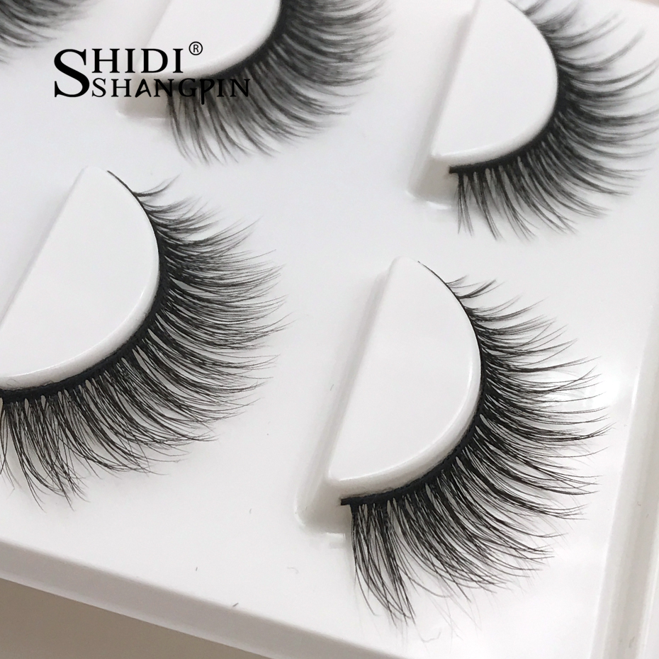 New 3 pairs natural false eyelashes fake lashes long makeup 3d mink lashes eyelash extension mink eyelashes for beauty #X11
