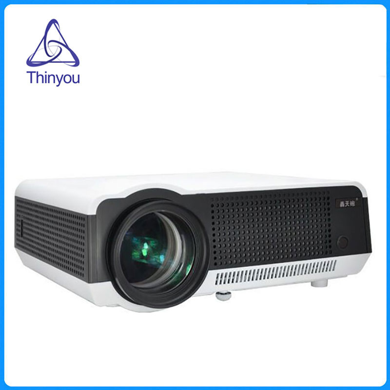 Thinyou LED LCD Proyector 3D Full HD Proyectores Inteligentes Casa teatro Juego