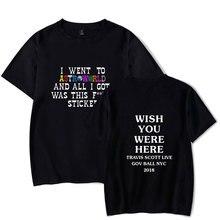 LUCKYFRIDAYF 100% Cotton Travis Scotts ASTROWORLD KPop Letter Print Women Short Sleeve Kpop T-shirt Top Tee Cool Summer Clothes