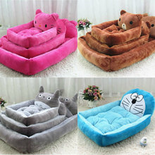 Six styles Cartoon pet dog bed house flannel kennel cat litter Dog Beds Mats Pet Supplies