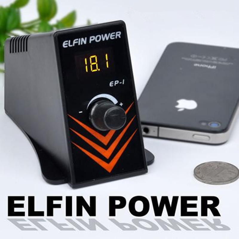 Professional Novelty Elfin Power Supply Tattoo Gun Power Supply for tattoo machine tattoo gun free shipping
