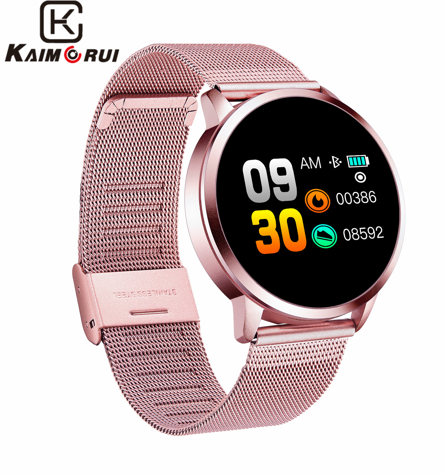 Q8 Smart Watch men women OLED Color Screen Fashion smart Fitness Tracker Heart Rate Blood Pressure Oxygen bluetooth Smartwatch