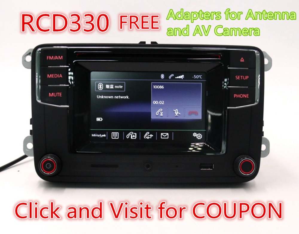 Car Radio  Bluetooth Radio High Version MIB RCD510 RCN210 RCD330 G RCD330G For Golf 5 6 Jetta CC Tiguan Passat