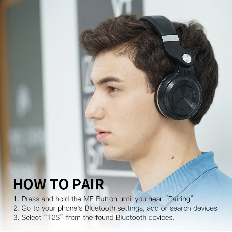 bluedio t2s (shooting brake) bluetooth headphone with bluetooth 4.1 for music