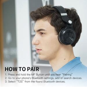 Image 2 - Bluedio T2S 블루투스 헤드폰 무선 헤드폰 스테레오 블루투스 헤드셋 터빈 시리즈 클리어런스 가격