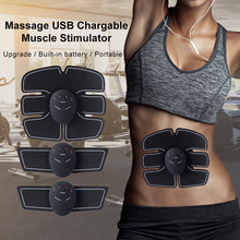 Weight Loss USB Rechargable Body Slimming Massage Trainer Fitness Wireless Muscle Stimulator EMS  Abdominal Muscle Exerciser *