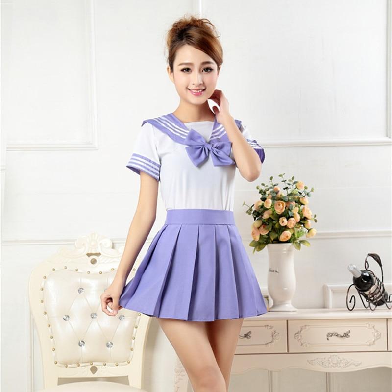 Korean School Uniform For Girls Japanese Students Navy -8163