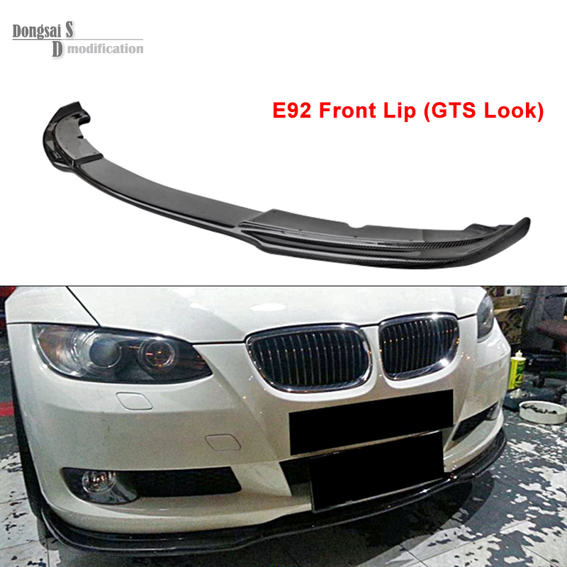 E92 M3 GTS / Vorsteiner / Haman / Custom Look Carbon Fiber Front Lip For BMW 3 Series E92 M3 2-Door Coupe 2006 - 2009 335i 328i