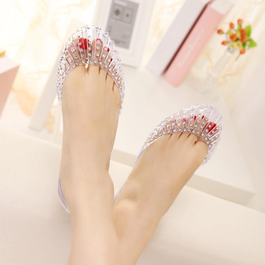 b935af732 8 stuart weitzman rhinestone shell stripe crystal cutout flat jelly sandals