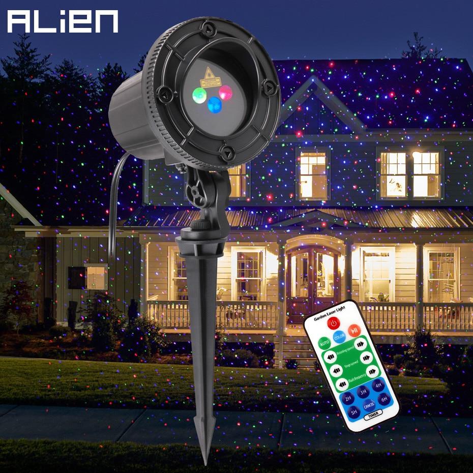 ALIEN Outdoor RGB Star Proiettore Laser Doccia di Luce del Giardino Impermeabile Luci Di Natale All'aperto Albero di Natale Del Partito di Festa di Illuminazione