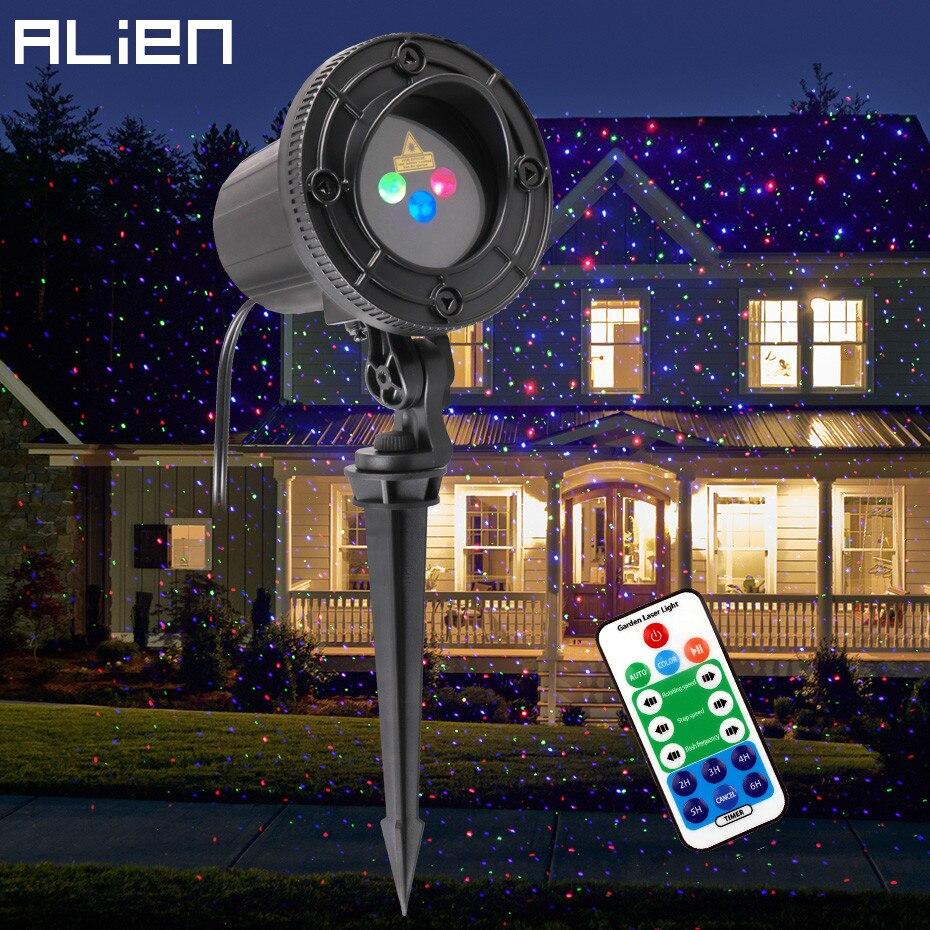 Alien Outdoor Rgb Star Laser Projector Douche Licht Waterdicht Tuin