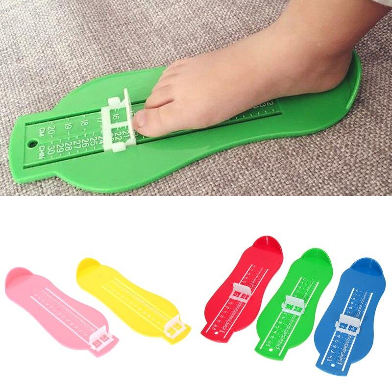 7 цветов Малыш младенческой стопы Мера Калибр обувь Размеры линейка программное средство, доступное ABS детское автомобильное регулируемый ...