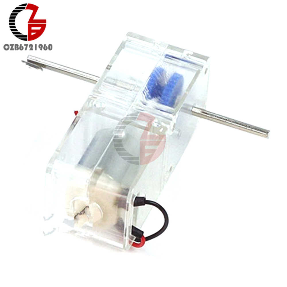 Moteur à engrenages cc 1.5-6V 130 1: 94 moteur cc 85-120 tr/min avec boîtier de protection Transparent pour Robot intelligent RC voiture bricolage