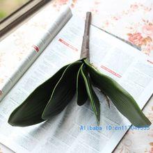 1 шт., искусственные зеленые бабочки, орхидеи, лист, пластиковый цветок, лист, украшение для дома, свадьбы, вечеринки, F11