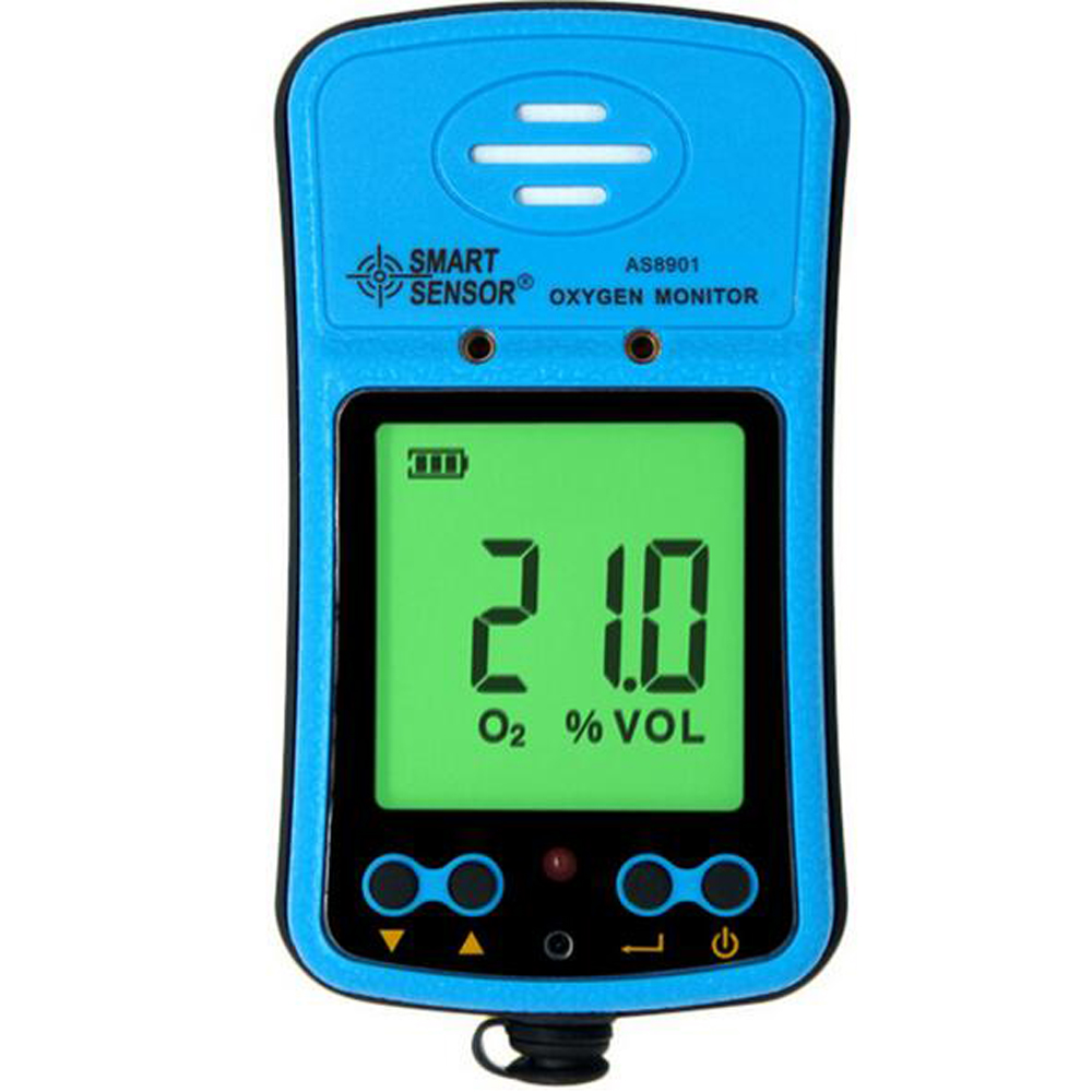 Handheld Oxygen Monitor O2 Gas Detector Analyzer 0 30%VOL Smart Sensor AS8901
