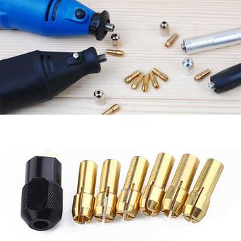 45 #7 sztuk zestaw wiertło mosiężne uchwyty Collet bity 1-3 2mm Shank nakrętka śruby Dremel Rotary tanie i dobre opinie CN (pochodzenie) Carbide do majsterkowania w domu tools woodworking tools
