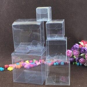 Image 5 - 200ピーススクエアプラスチックボックス収納pvcボックスクリア透明ボックス用ギフトボックスウェディング/ツール/食品/ジュエリー包装ディスプレイdiy
