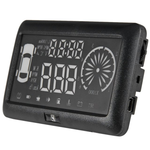 New 3 inch Car HUD Head Up Display OBD II Windscreen Projector Vehicle Speed Warning Fuel Consumption Car Driving Data Diagnosis