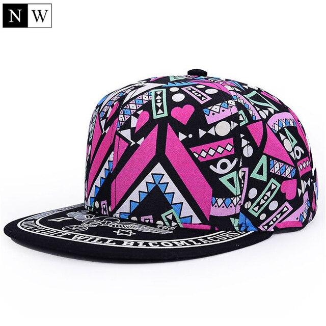 9aea892d962d € 5.46 |2017 de moda lindo Snapbacks para las mujeres, Gorras Planas  mujeres gorra de Hip Hop Snapback sombreros Gorras de béisbol gorra de las  ...