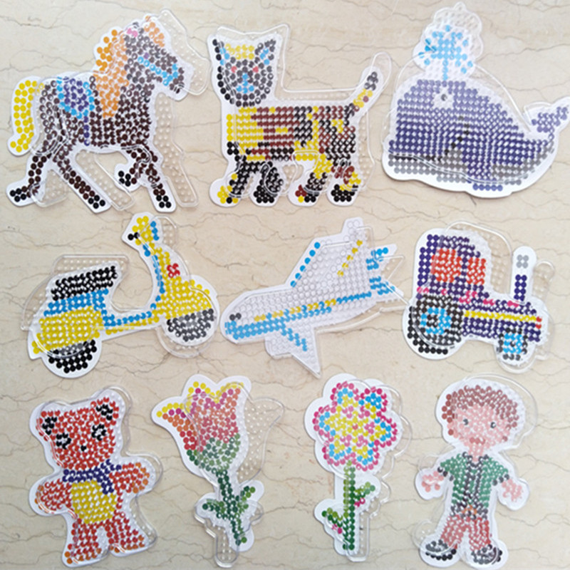 Buy 10 Get 1 Free 5mm Hama Beads Template Puzzles For Kids Children Adults Crafts Fuse Pegboards Patterns DIY Intellectual Toys