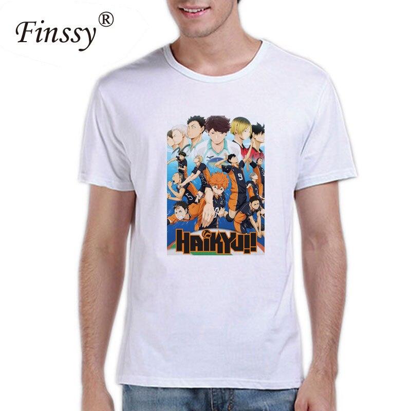 Haikyuu T Shirt White Color Mens Fashion Short Sleeve Anime Haikyuu T-shirt Tops Tees tshirt Casual T-shirt