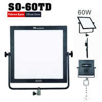 Falcon Eyes 60W Beauty LED Video Photographic Lighting Lamp Bi-color Square Soft Panel Light For Photo Studio Movie Shooting