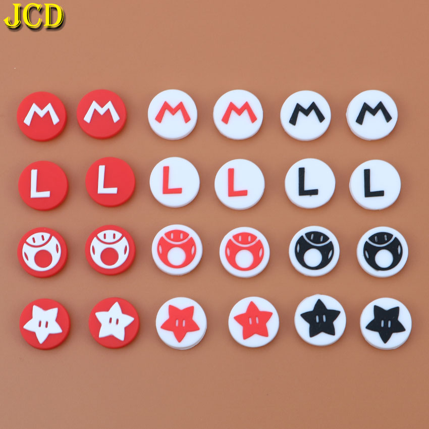 JCD 4PCS Silicone Joystick Grip Caps Analog Joystick Cover Case For Nintend Switch NS For PokeBall Plus Controllers Joypad