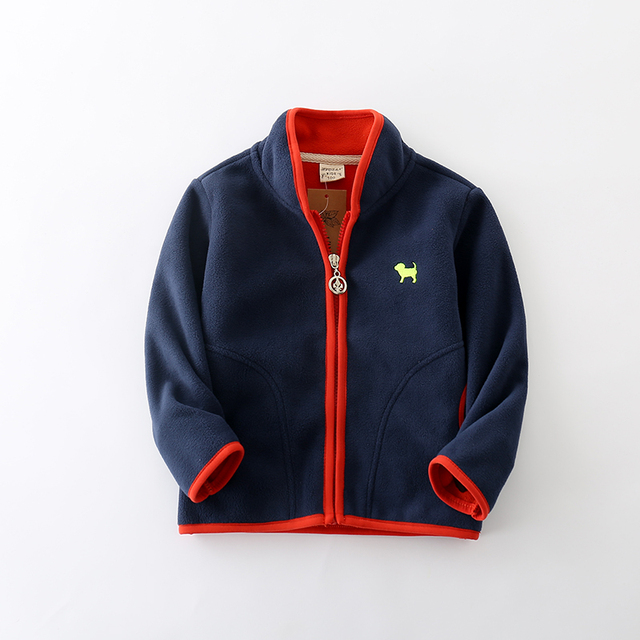 Sundae Angel Baby Girls Coats 2018 Polar fleece Jacket for Boys Kids Warm Print Dog Pattern Long Sleeve Children Outerwear 18-7Y