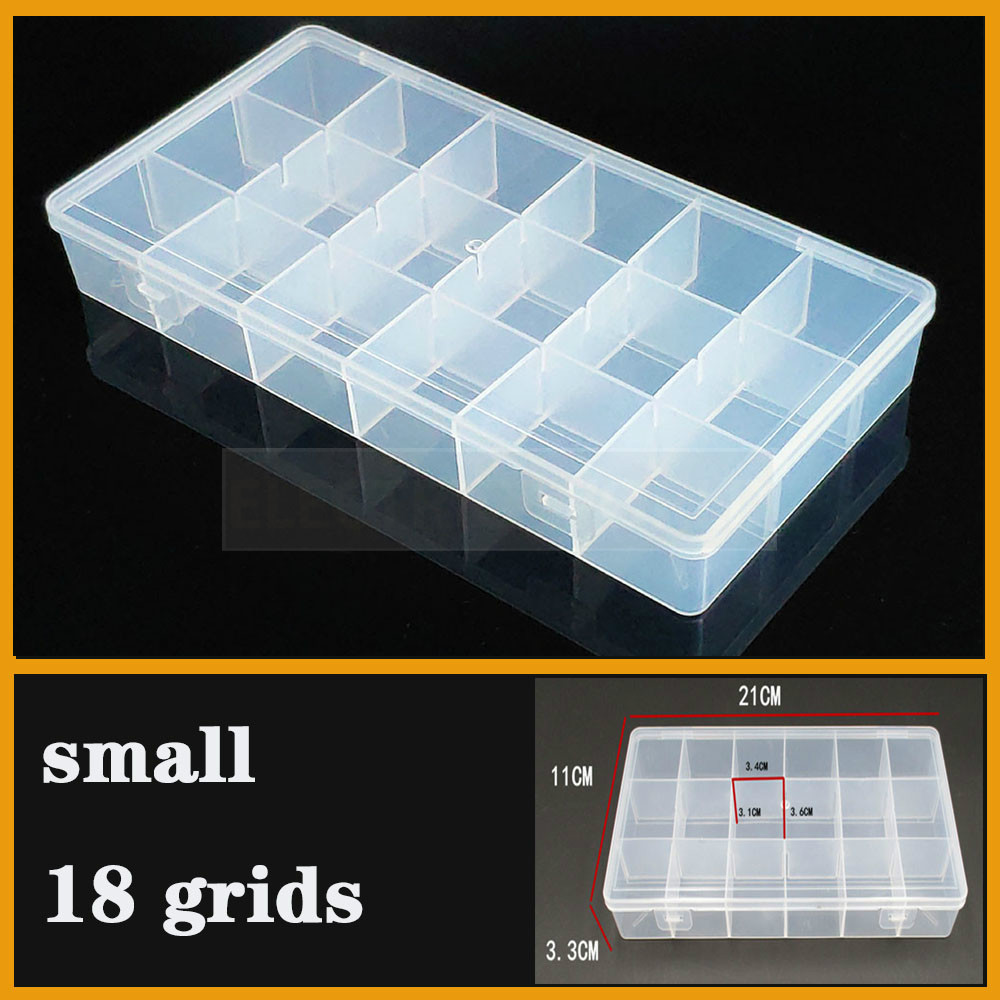 3-Grid Plastic Clear Jewelry Organiser Fishing Gear Storage Box Container Case