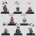 Mini blcak flag assassins creed connor haytham edward james e kenway altair ezio figura building block juguetes compatible con lego